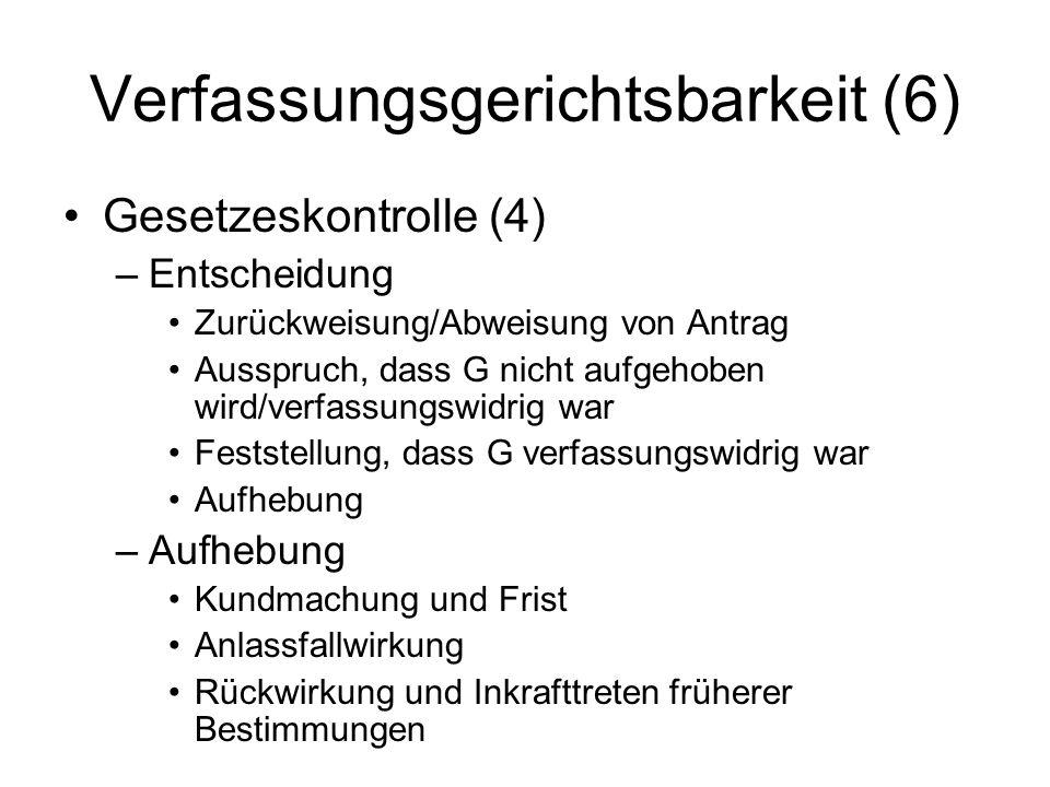 Verfassungsgerichtsbarkeit (6)