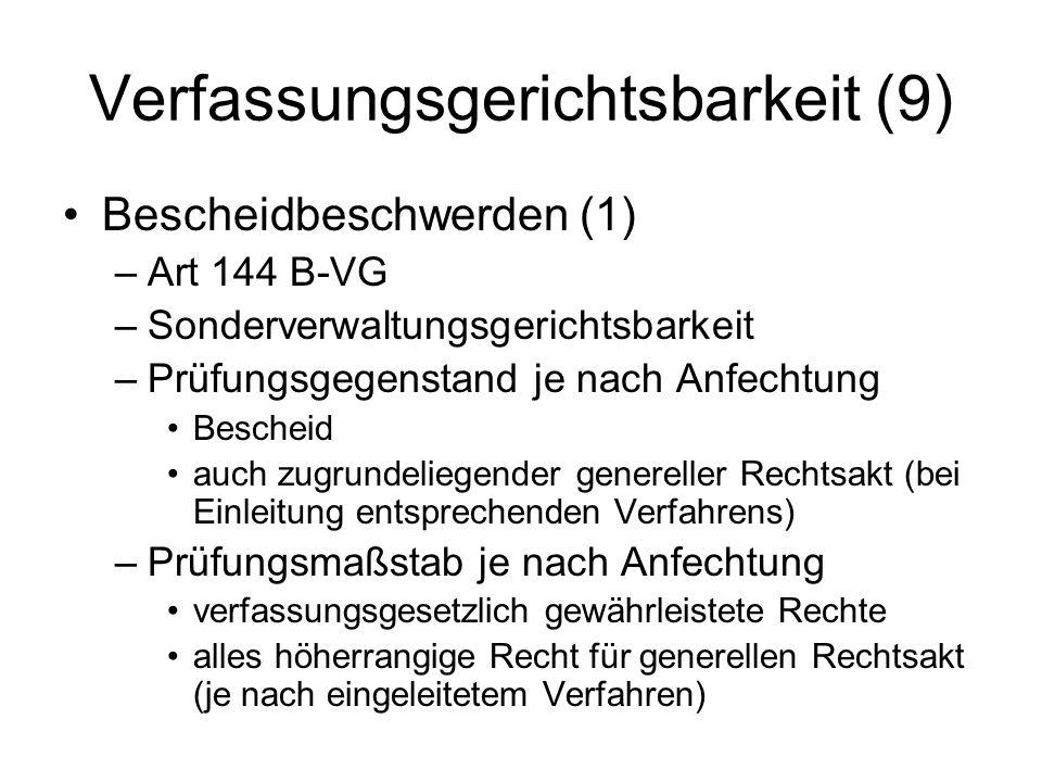 Verfassungsgerichtsbarkeit (9)