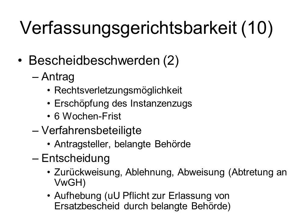 Verfassungsgerichtsbarkeit (10)
