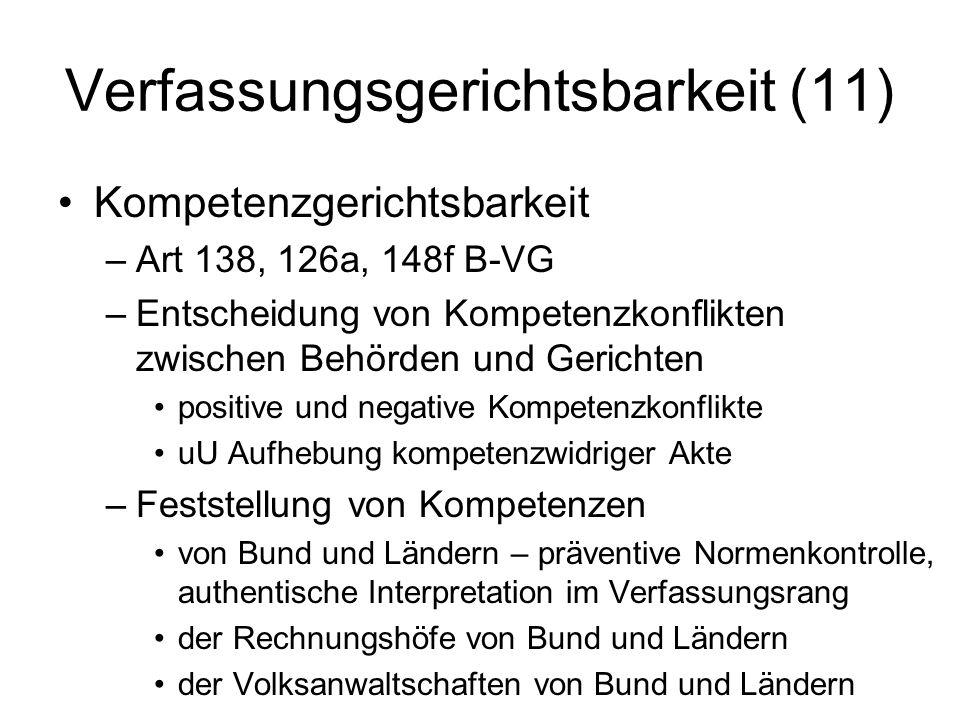 Verfassungsgerichtsbarkeit (11)