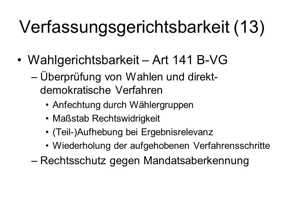 Verfassungsgerichtsbarkeit (13)