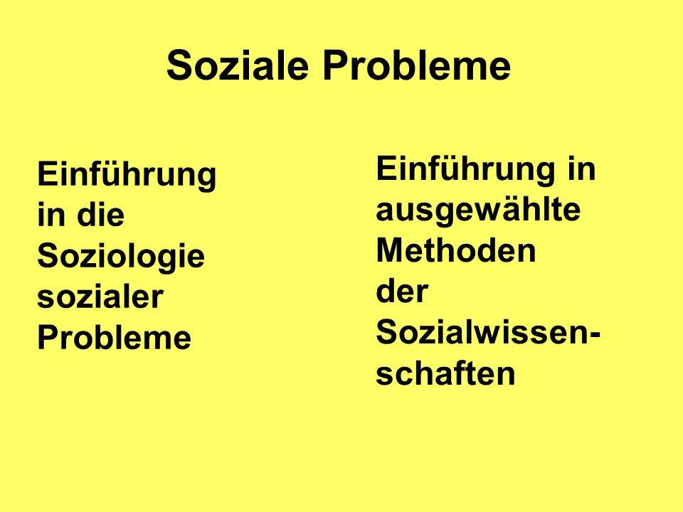 Soziale Probleme Einführung in