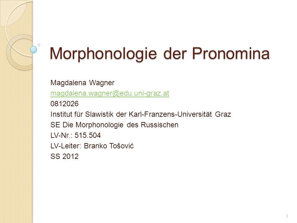 Morphonologie der Pronomina
