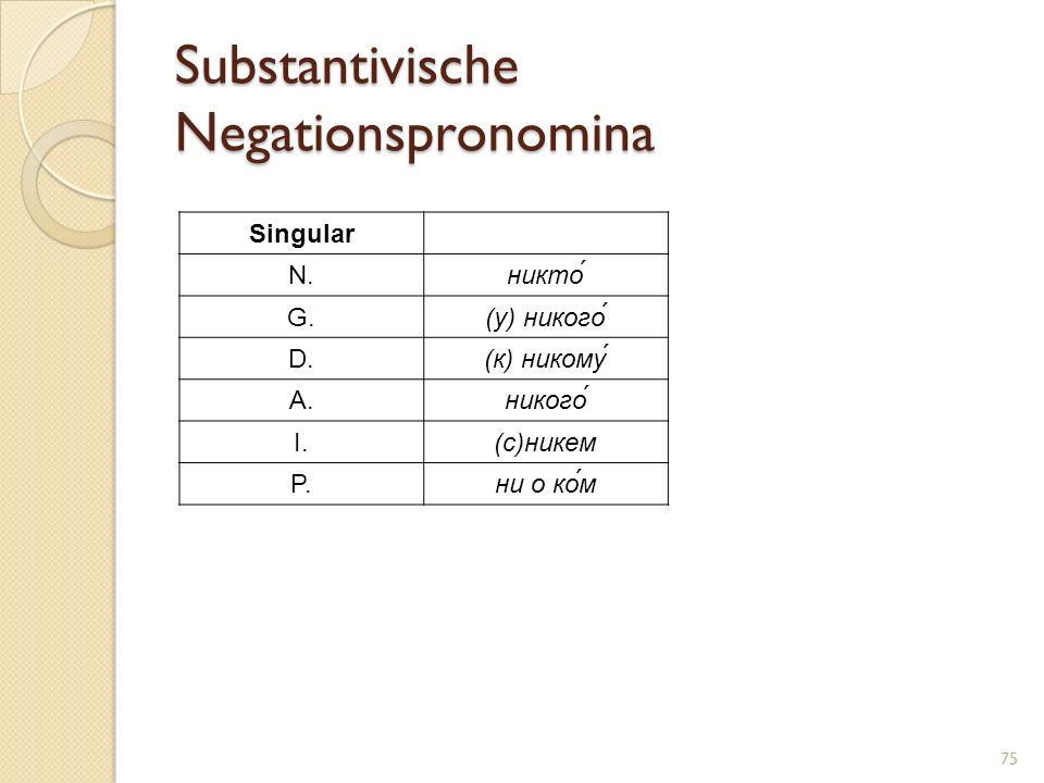 Substantivische Negationspronomina