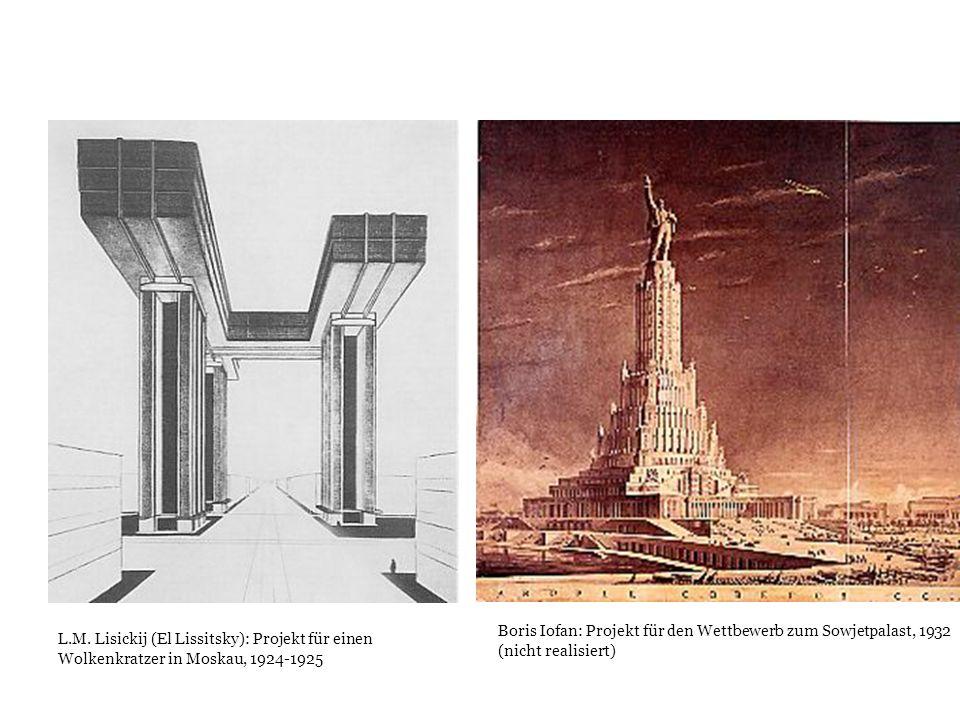 Boris Iofan: Projekt für den Wettbewerb zum Sowjetpalast, 1932 (nicht realisiert)