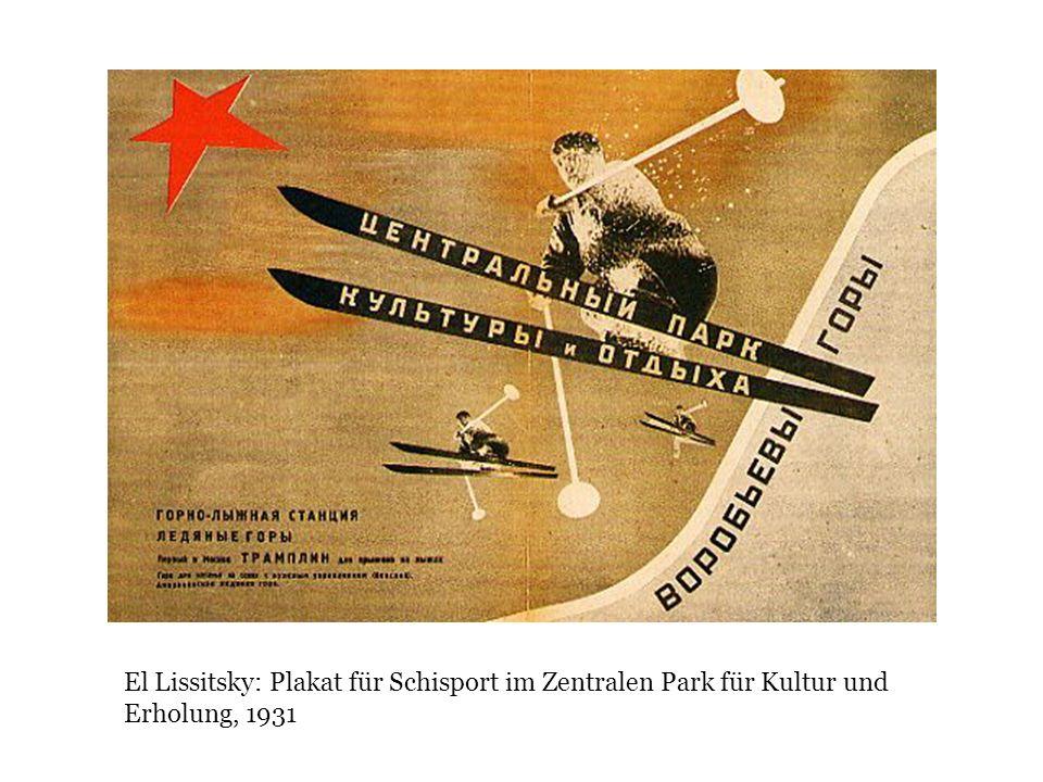 El Lissitsky: Plakat für Schisport im Zentralen Park für Kultur und Erholung, 1931
