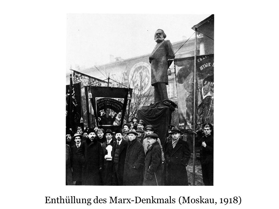 Enthüllung des Marx-Denkmals (Moskau, 1918)