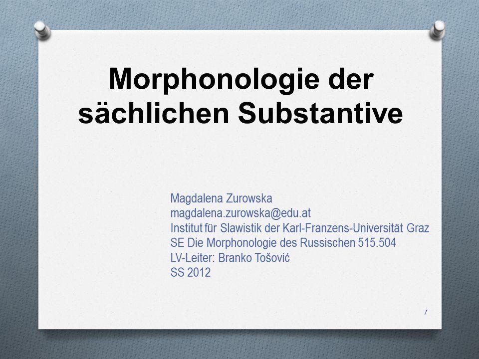 Morphonologie der sächlichen Substantive