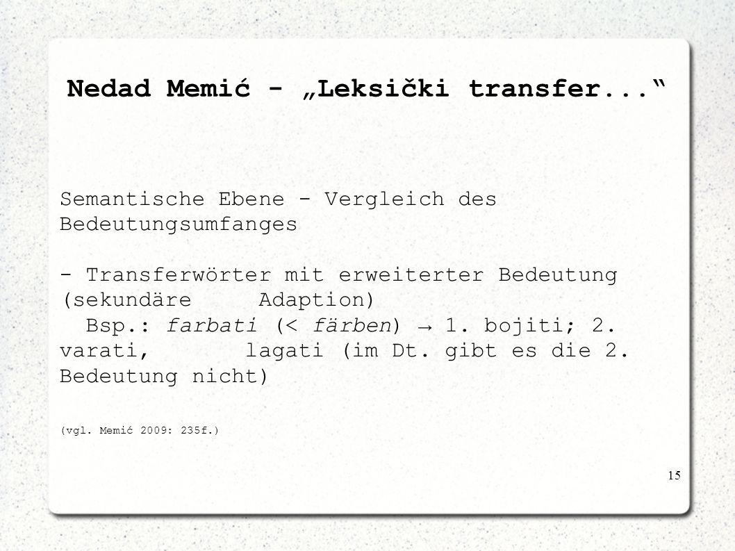 "Nedad Memić - ""Leksički transfer..."