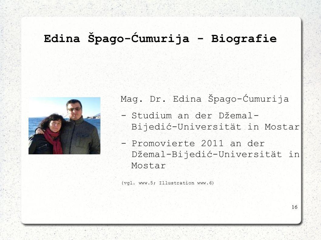 Edina Špago-Ćumurija - Biografie