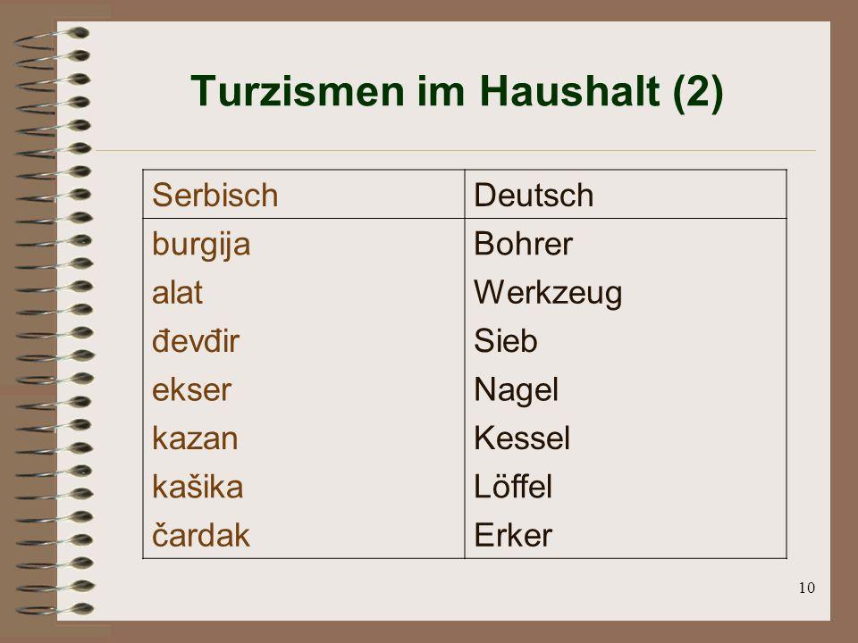 Turzismen im Haushalt (2)