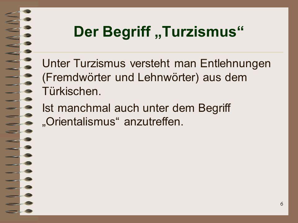 """Der Begriff """"Turzismus"""