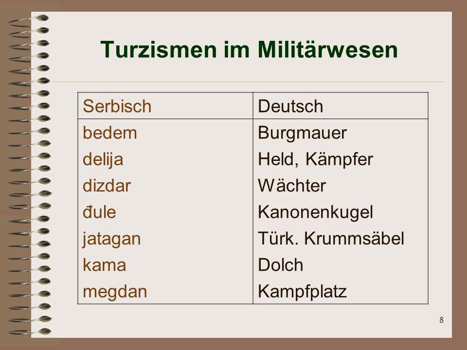 Turzismen im Militärwesen