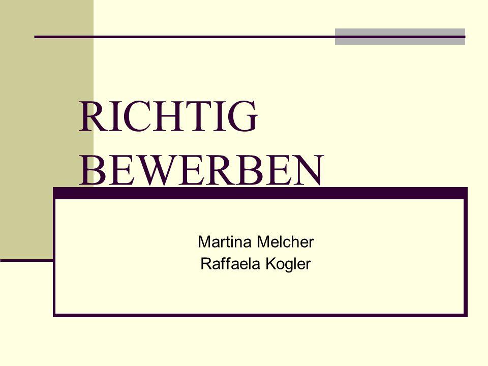 Martina Melcher Raffaela Kogler