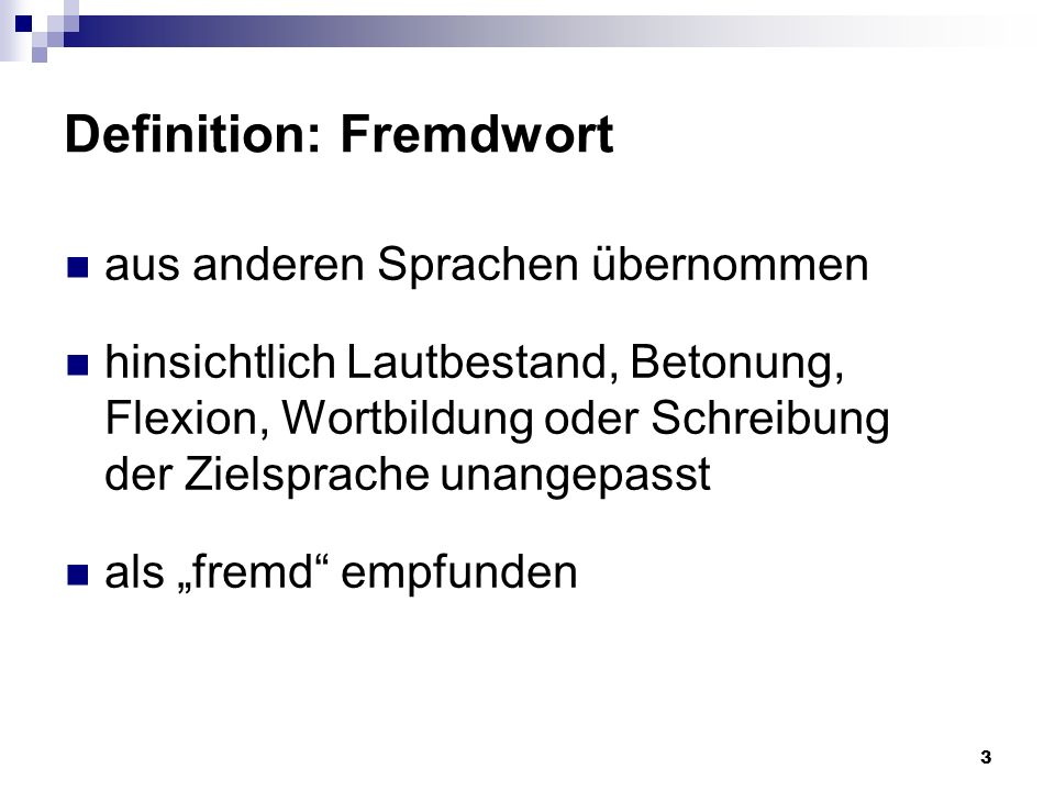 Definition: Fremdwort
