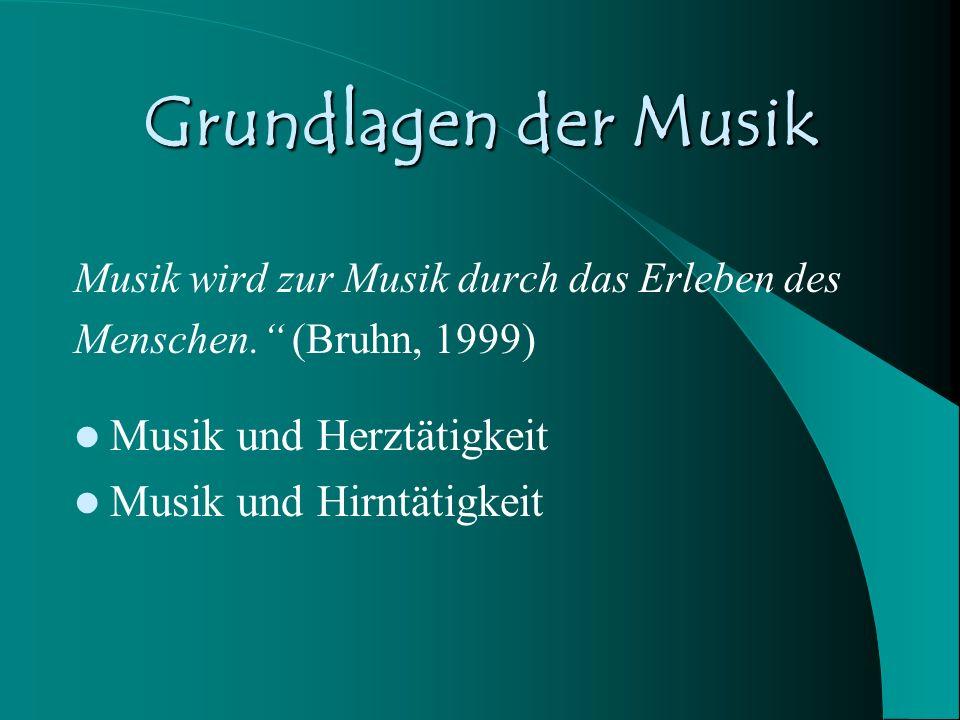 Grundlagen der Musik Musik und Herztätigkeit Musik und Hirntätigkeit