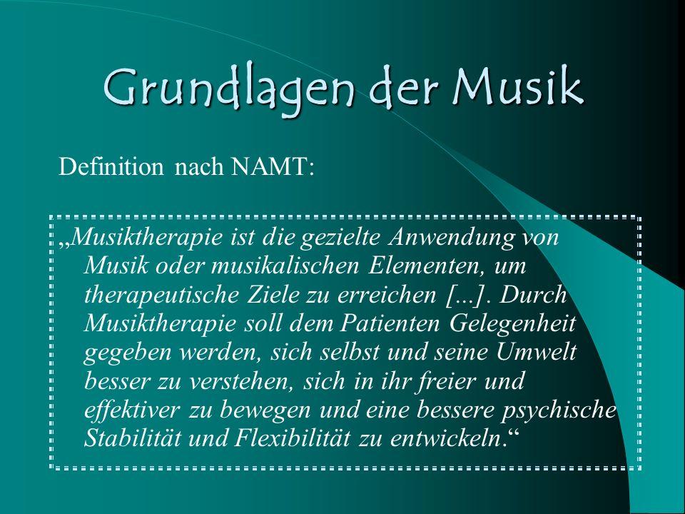 Grundlagen der Musik Definition nach NAMT: