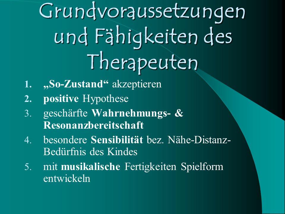 Grundvoraussetzungen und Fähigkeiten des Therapeuten