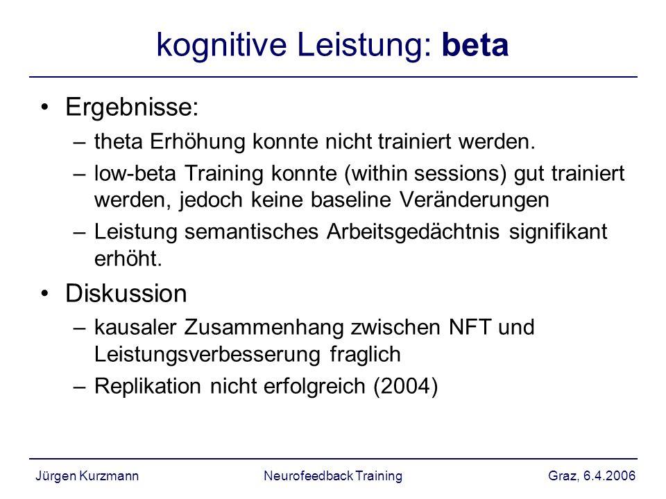 kognitive Leistung: beta