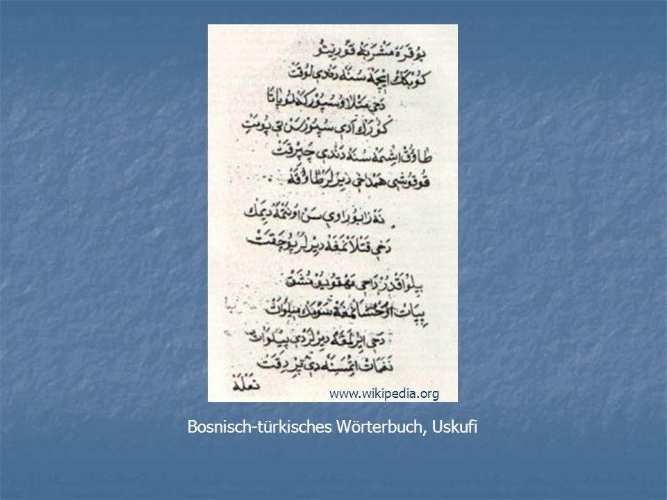 Bosnisch-türkisches Wörterbuch, Uskufi