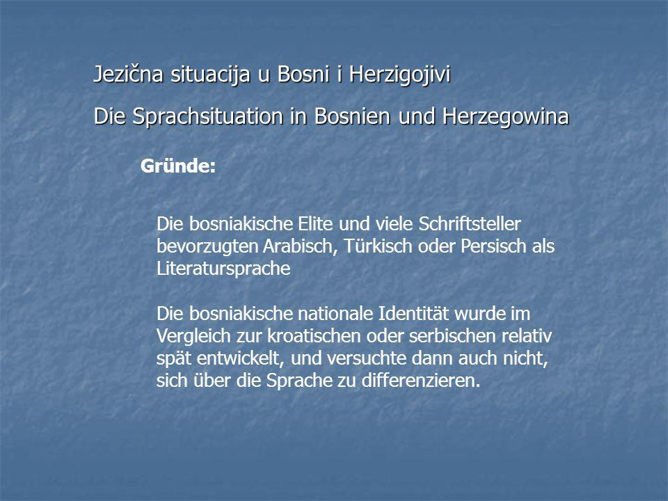 Jezična situacija u Bosni i Herzigojivi