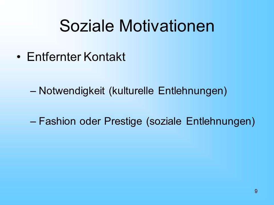 Soziale Motivationen Entfernter Kontakt