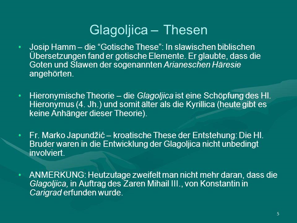 Glagoljica – Thesen