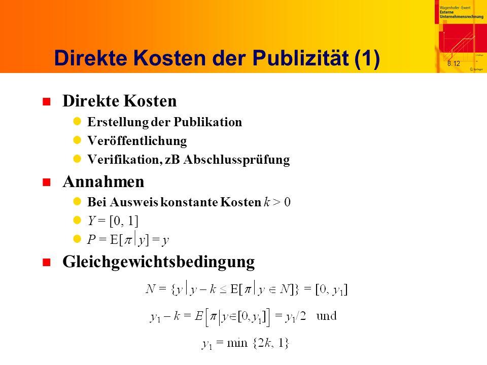 Direkte Kosten der Publizität (1)