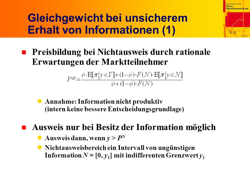 Gleichgewicht bei unsicherem Erhalt von Informationen (1)