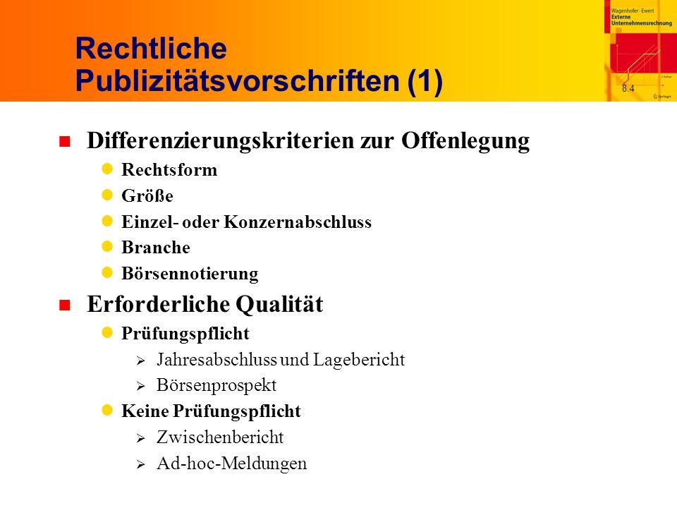 Rechtliche Publizitätsvorschriften (1)