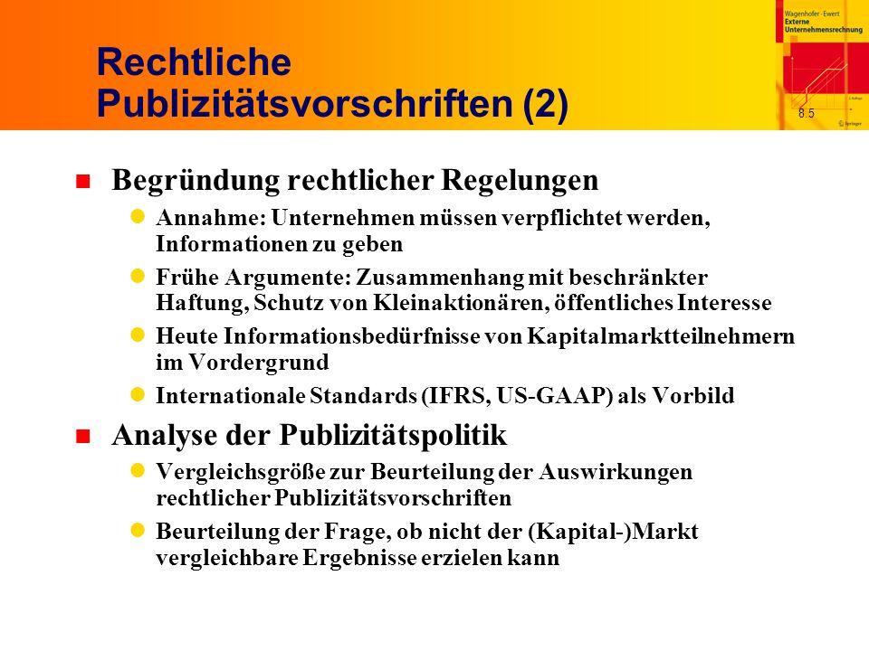 Rechtliche Publizitätsvorschriften (2)