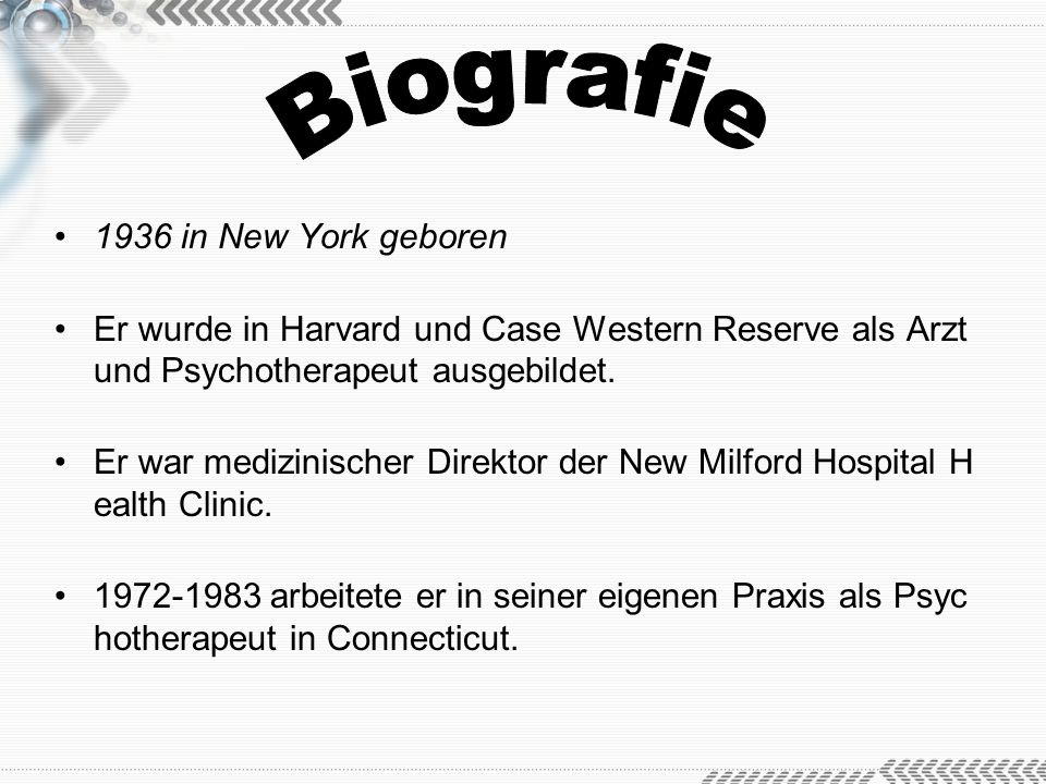 Biografie 1936 in New York geboren