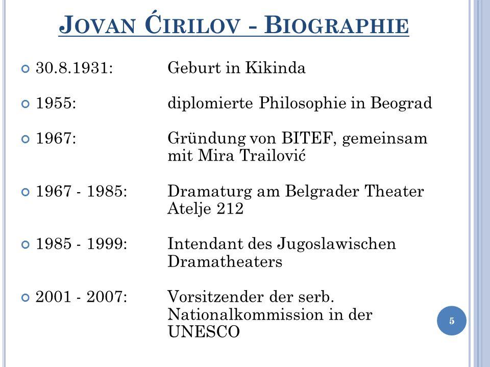Jovan Ćirilov - Biographie