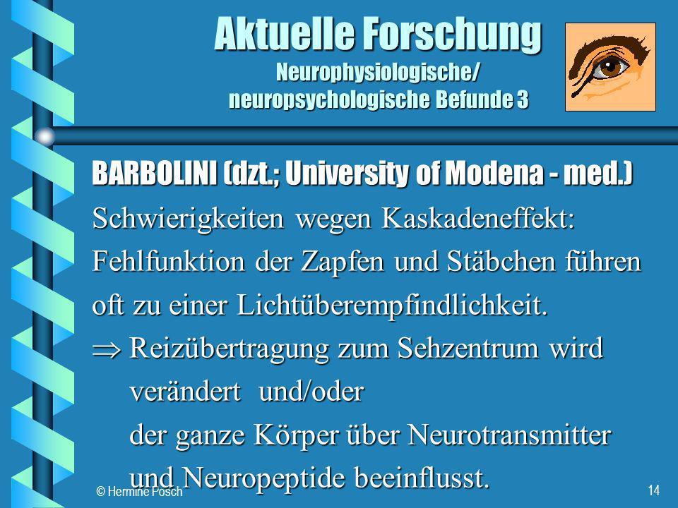 Aktuelle Forschung Neurophysiologische/ neuropsychologische Befunde 3