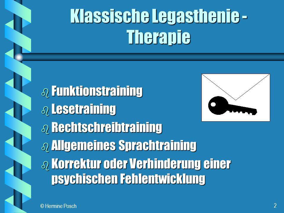 Klassische Legasthenie - Therapie