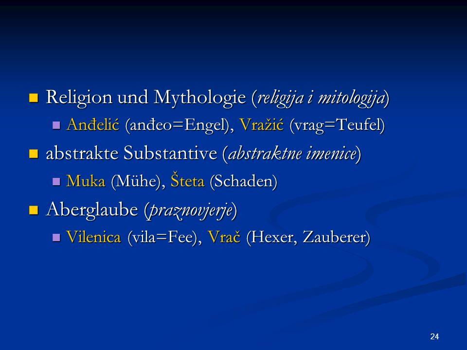 Religion und Mythologie (religija i mitologija)