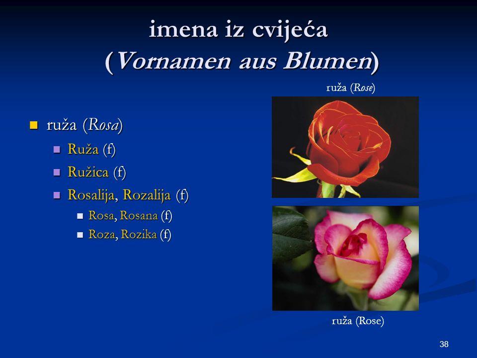 imena iz cvijeća (Vornamen aus Blumen)