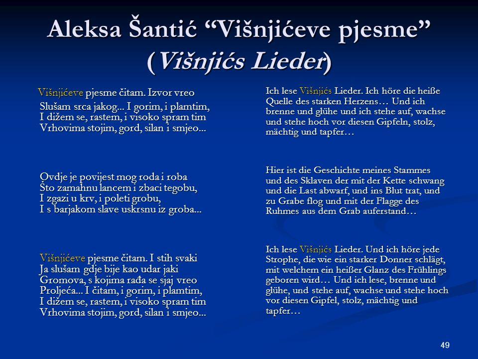 Aleksa Šantić Višnjićeve pjesme (Višnjićs Lieder)