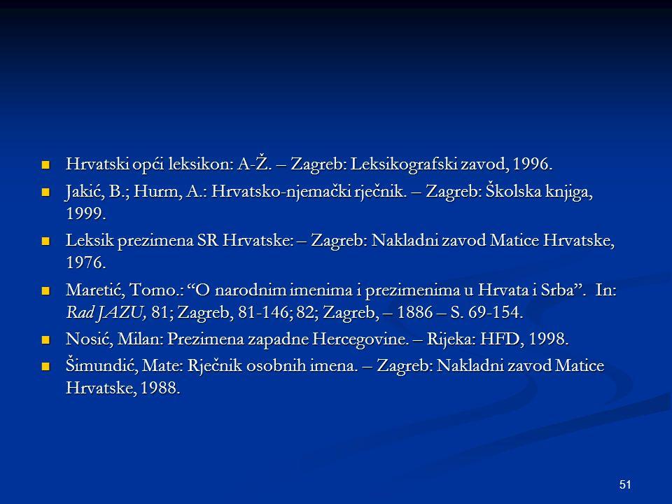 Hrvatski opći leksikon: A-Ž. – Zagreb: Leksikografski zavod, 1996.