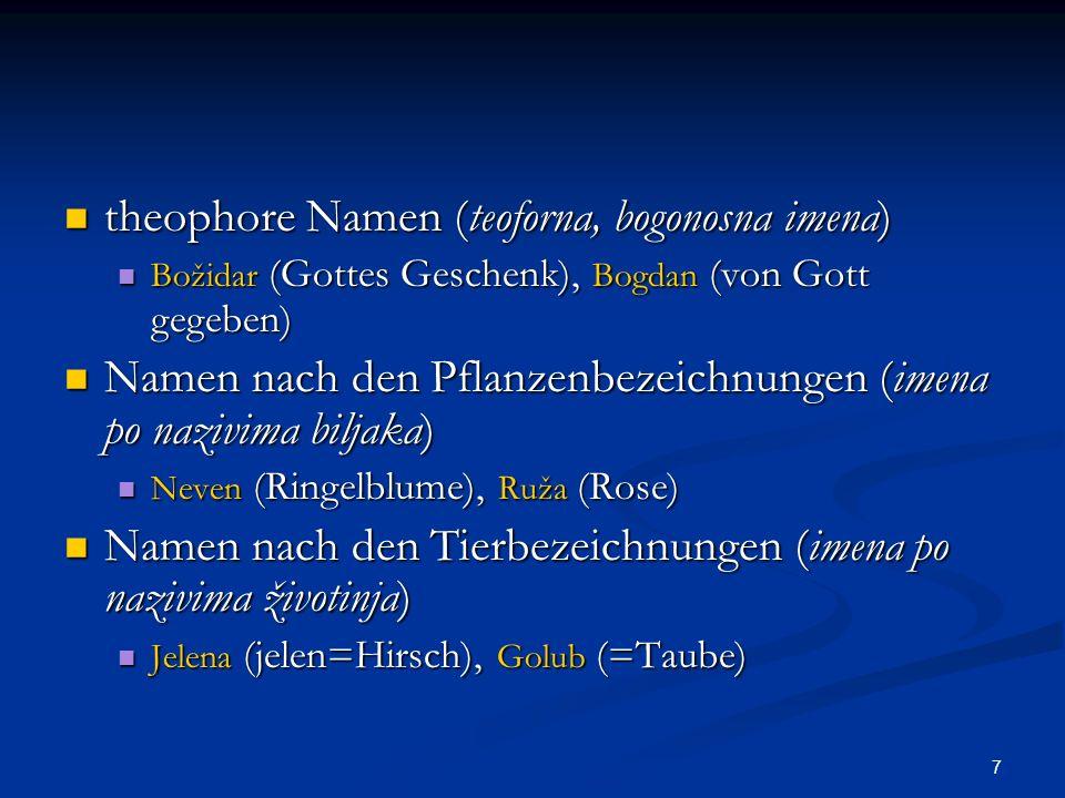 theophore Namen (teoforna, bogonosna imena)