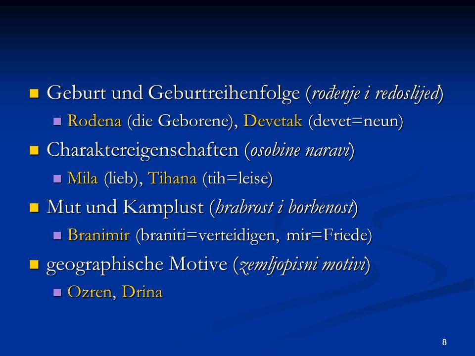 Geburt und Geburtreihenfolge (rođenje i redoslijed)