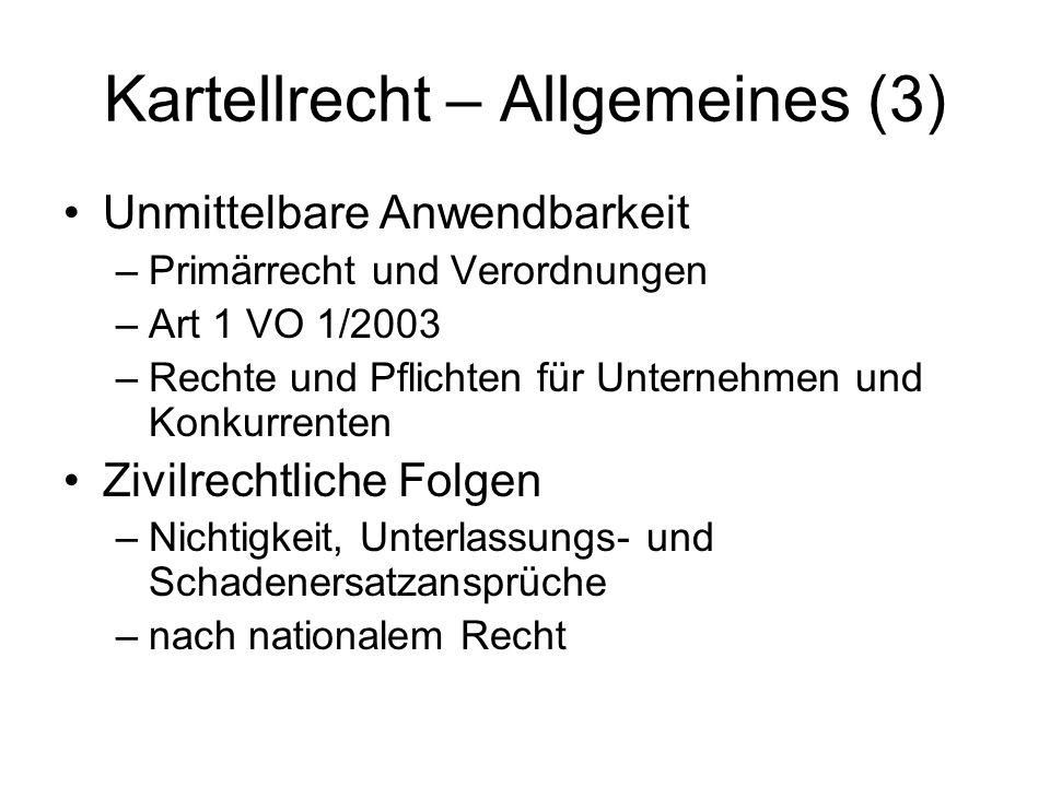 Kartellrecht – Allgemeines (3)