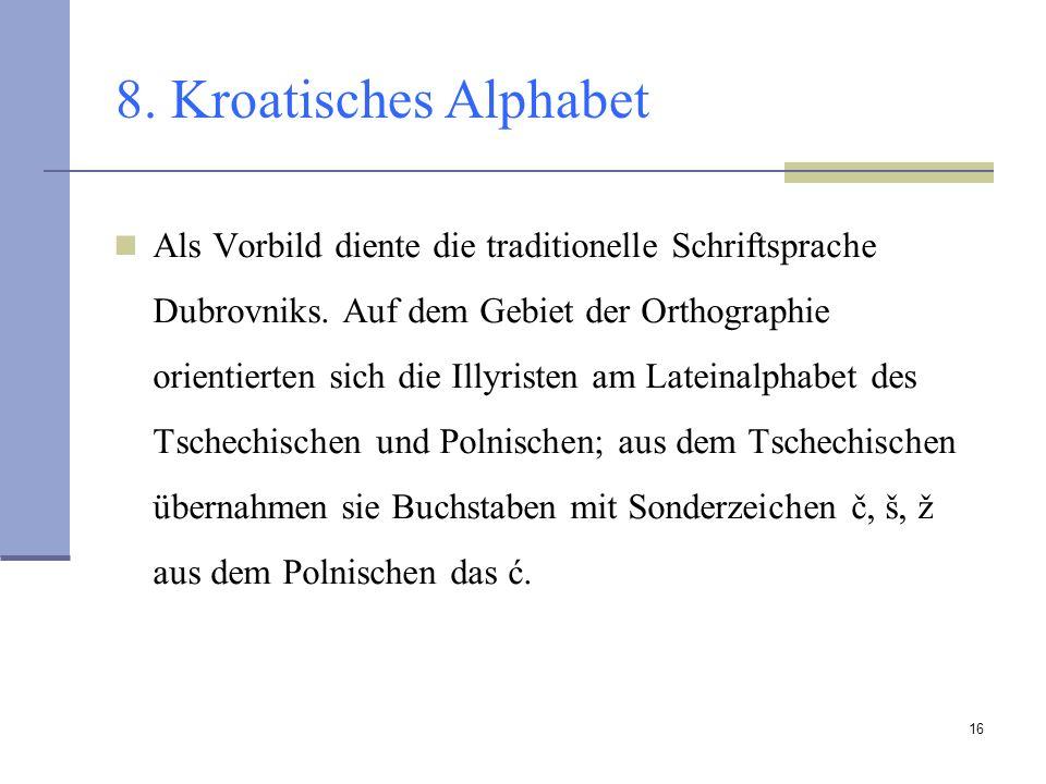 8. Kroatisches Alphabet