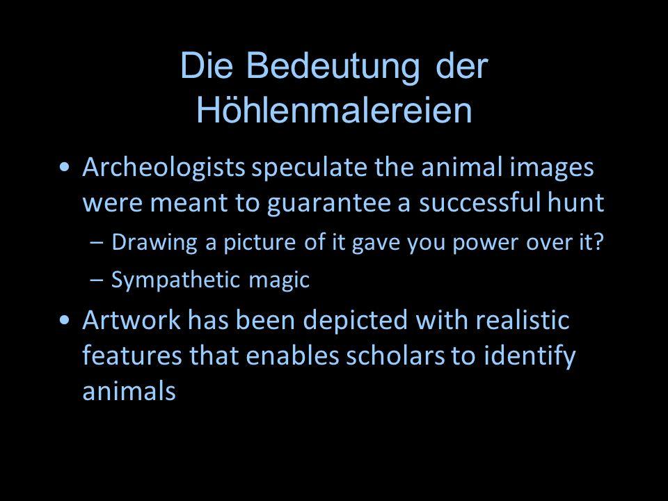 Die Bedeutung der Höhlenmalereien