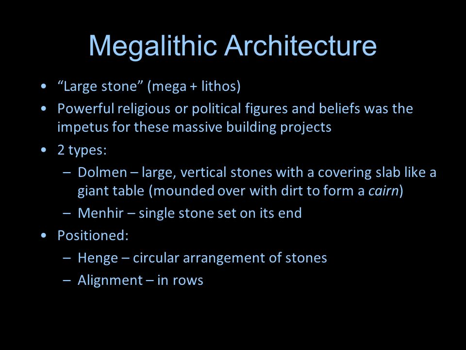 Megalithic Architecture