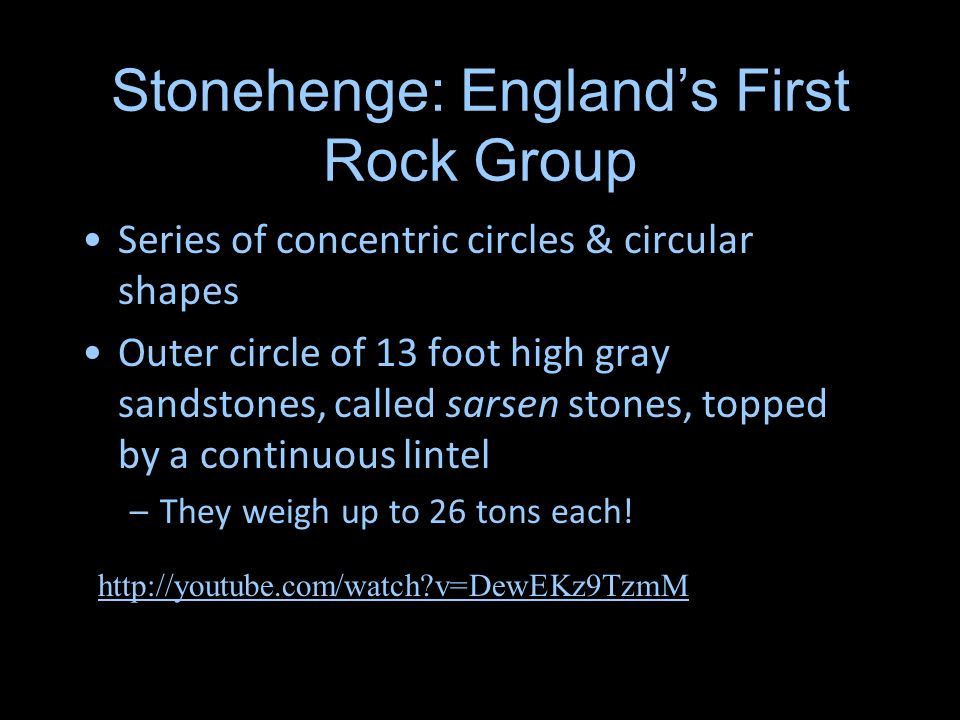 Stonehenge: England's First Rock Group