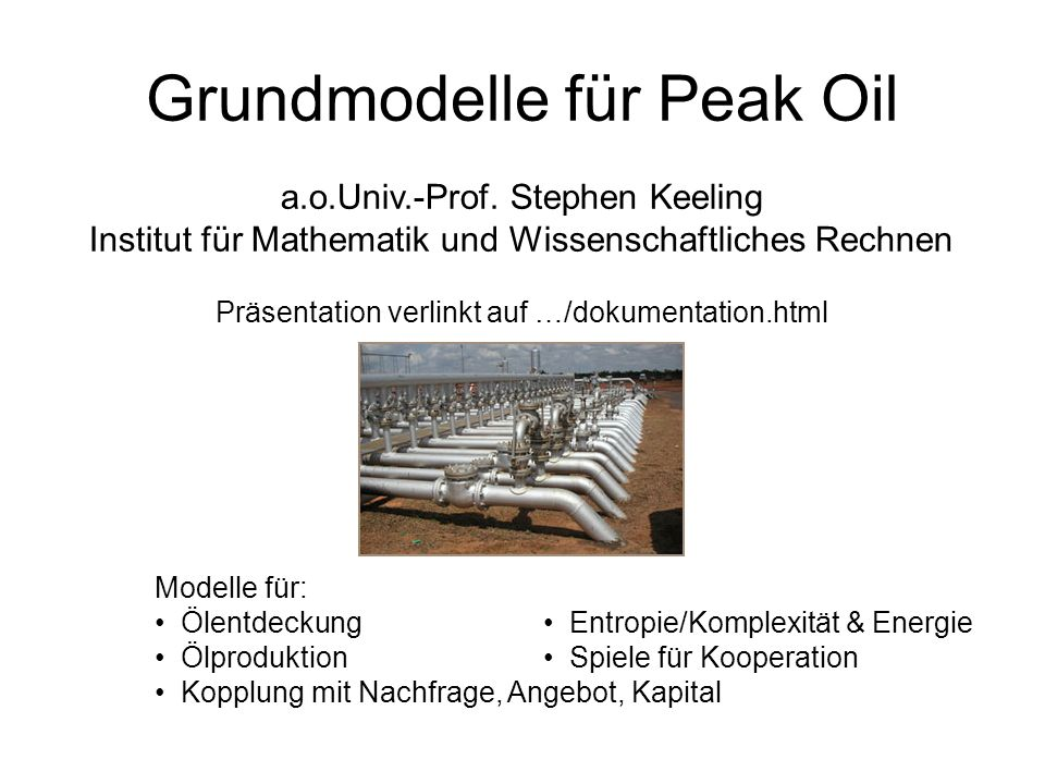 Grundmodelle für Peak Oil