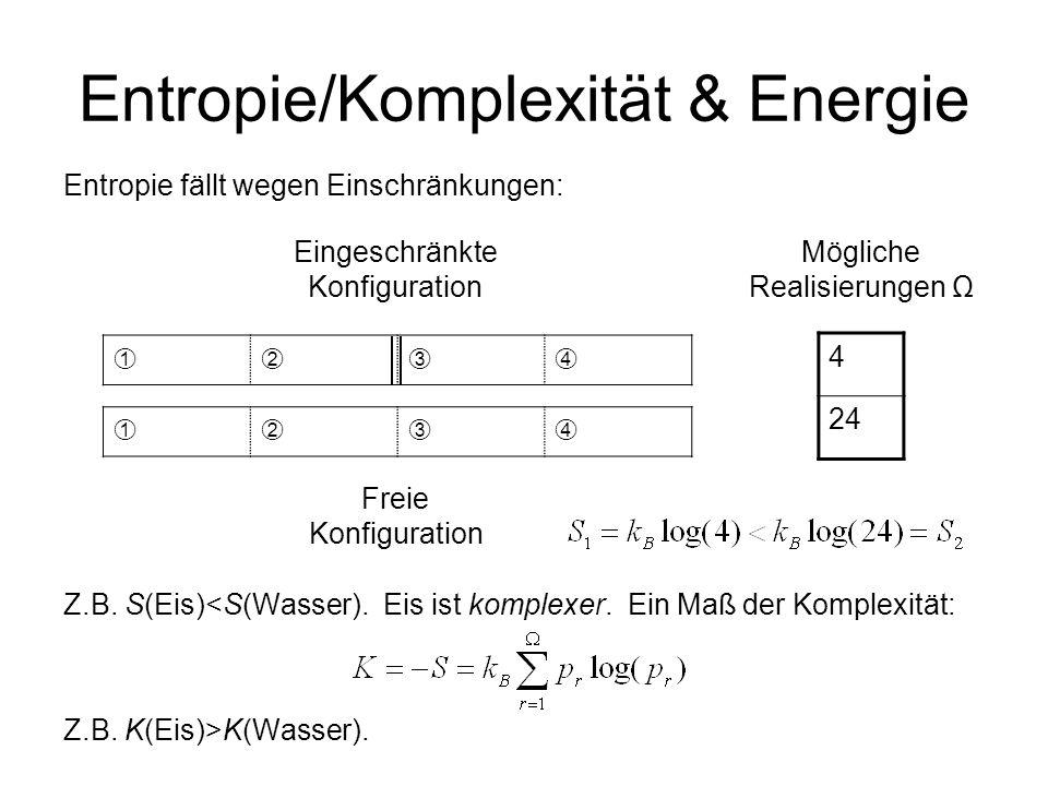 Entropie/Komplexität & Energie