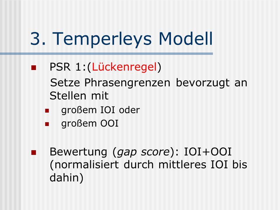 3. Temperleys Modell PSR 1:(Lückenregel)