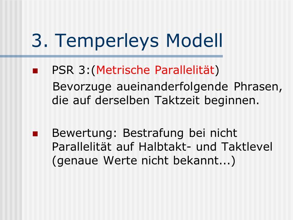 3. Temperleys Modell PSR 3:(Metrische Parallelität)